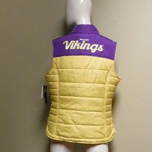 NFL Jackets & Coats - Women's NFL Vikings Vest NWT Size Large